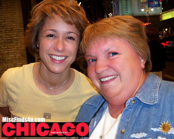 Paige Davis as Roxy Hart in Chicago on Broadway 2004