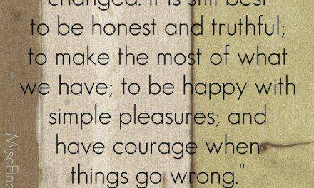 Today's Quote: Laura Ingalls Wilder – Simple Pleasures