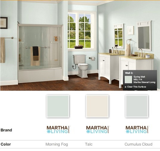 My Martha Stewart Living paint choices