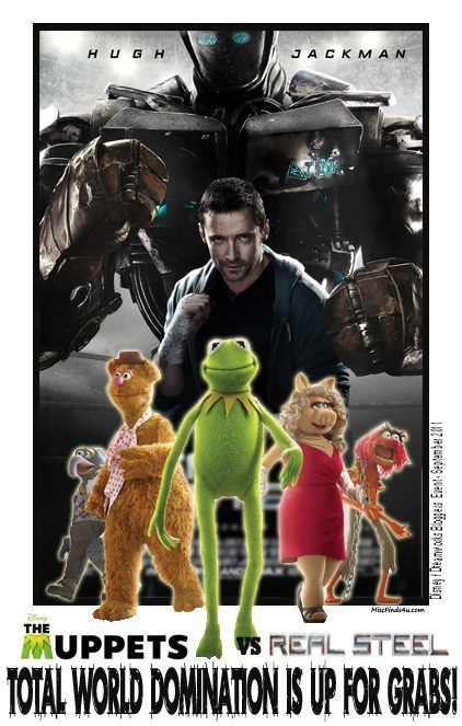 Real Steel VS The Muppets Movie - total world domination is up for grabs!