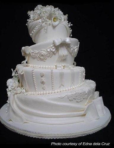 DIY Lopsided Wedding Cake
