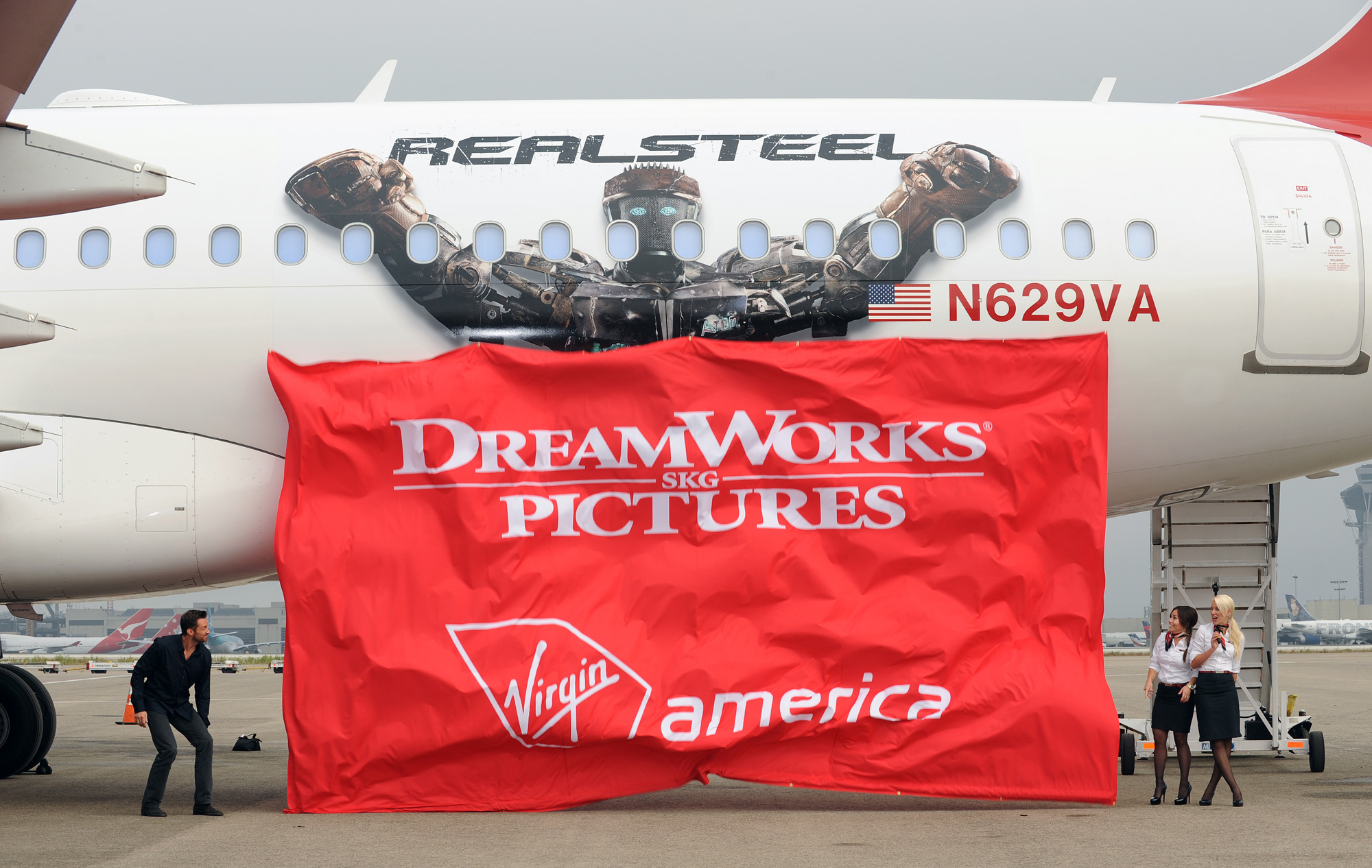 Virgin America Airlines teams with DreamWorks Pictures