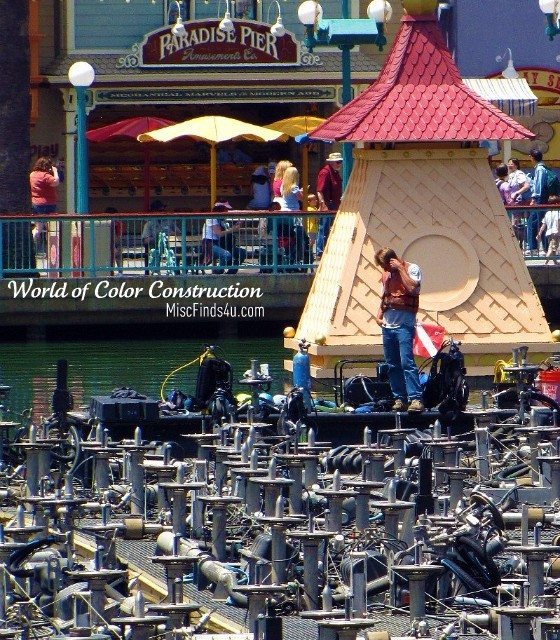 Photo of the Day: Disneyland World of Color Lagoon Construction Photo