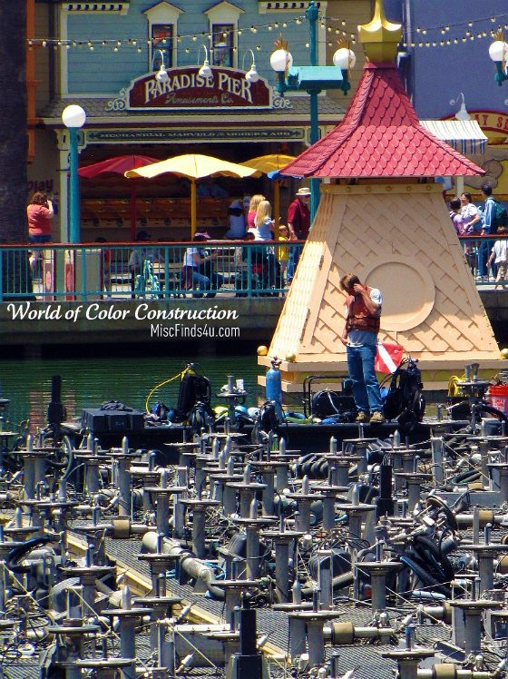 Disneyland World of Color during the construction phase