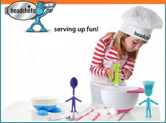 Headchefs are kid-size kitchen tools that are safe and fun!