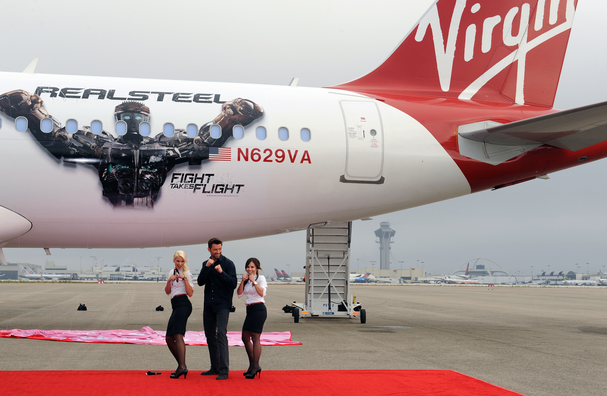 Virgin America Airlines teams with Hugh Jackman