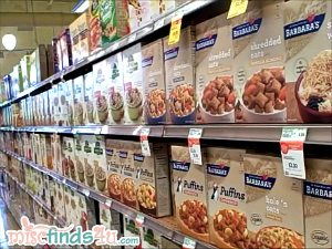 Cereal aisle at Whole Foods Store