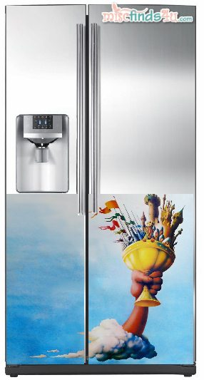 Our dream refrigerator decorated with our favorit movie