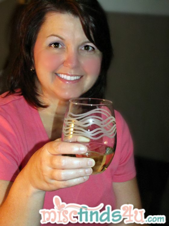 My sister Judy trying out some flipflop Moscato wine