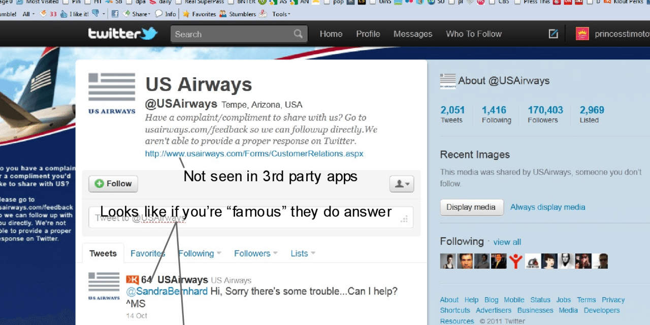 US Airways Fails in Customer Service For Me