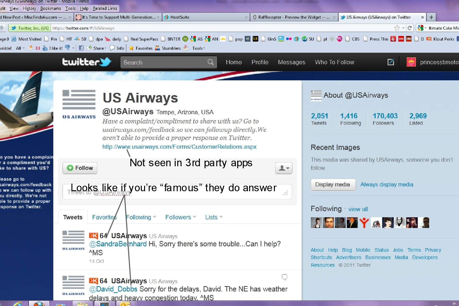Customer Service Fail by US Airways