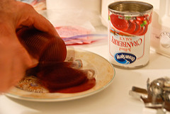 Slicing the Cranberry Sauce