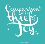 Comparison is the thief of joy.  (Or as I remind myself often...