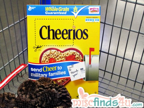 Cheerios SendCheer To Military Families Campaign