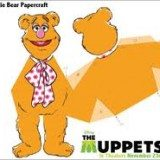 3D Fozzie Bear Papercraft - perfect for birthday party table decorations
