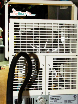 NewAir G70 Electric Garage Heater - back panel