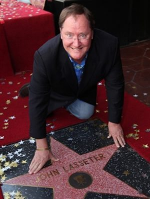Director John Lasseter recieves a star on the Hollywood Walk of Fame 11/1/11