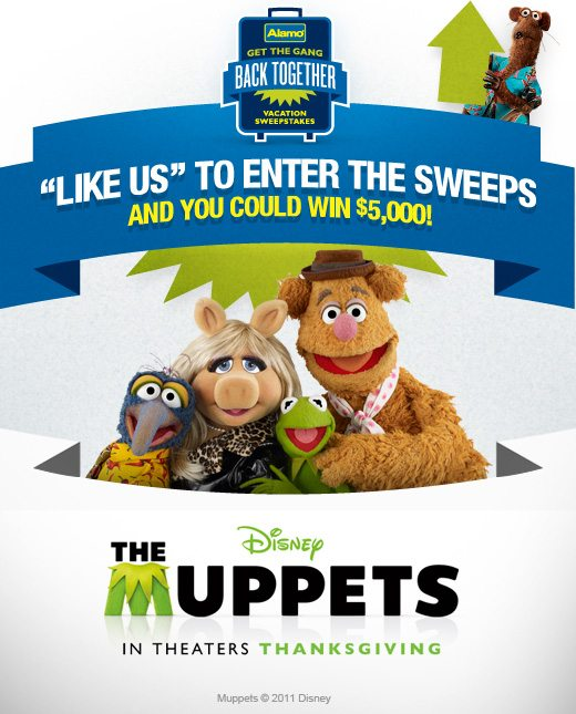 Muppets & Alamo Rent a Car Get the Gang Back Togehter Sweepstakes