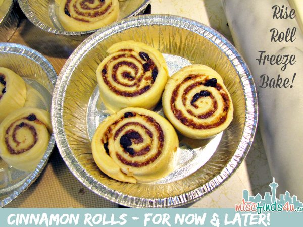Cinnamon Roll Recipes - make freeze bake later
