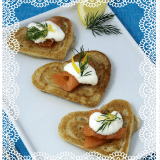 Heart Shaped Blinis - Make Ahead Appetizers for Valentine's Day