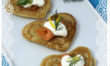 Recipe: Heart-Shaped Blini with Smoked Salmon and Lemon Caper Sour Cream