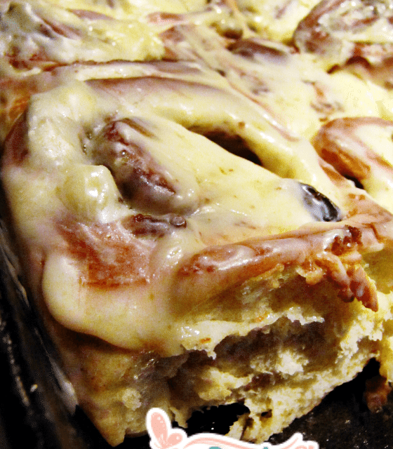 Easy Bread Machine Cinnamon Rolls with Cream Cheese Frosting