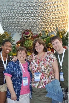 March 2011 - Epcot at WDW, LaTanya, Mom, Me, and Alex