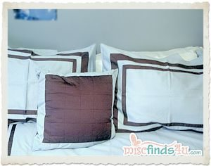 Pillow shams and included decorative pillows