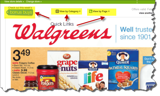 The Walgreens' Online Sunday Circular is easy to use