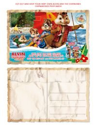 Alvin and the Chimpmunks free downloadable and printable postcards-3