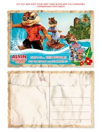 Alvin and the Chimpmunks free downloadable and printable postcards-4