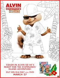 Alvin free coloring page