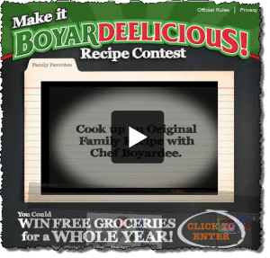 Get information or enter the Chef Boyardee Make it BoyarDeelicious! Recipe Contest