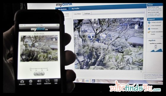 D-Link Day and Night Camera - an inexpensive way to check out what's going on at home via the internet (c) MiscFinds4u.com