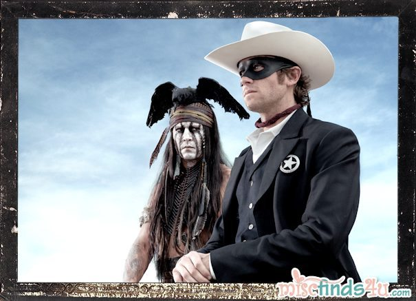 Walt Disney Picture THE LONE RANGER first photo featuring Johnny Depp as Tonto and Armie Hammer as the Lone Ranger - Photo Credit: Peter Mountain (used with permission)