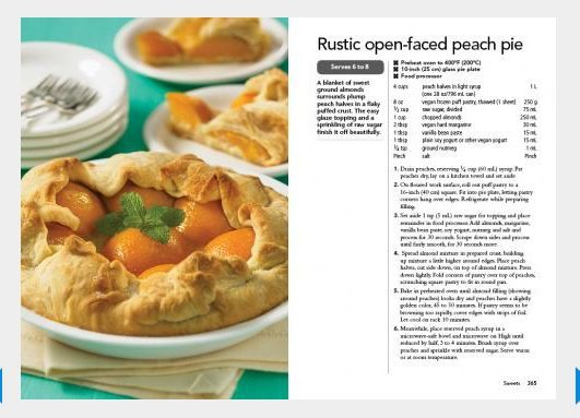 Click to print this Rustic Open-Faced Peach Pie From: 350 Best Vegan Recipes