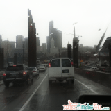 Rainy drive into downtown Seattle for the Hallmark Memories and Milestones Blogger Event