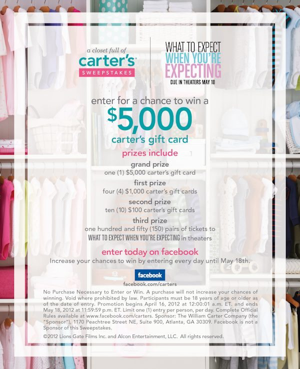 A Closet Full of Carter's Sweepstakes