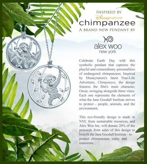 Alex Woo CHIMPANZEE Pendant Necklace in Sterling Silver - Enter to win