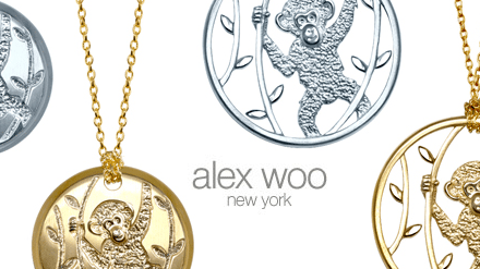 Chimpanzee-Inspired Alex Woo Pendant Necklace