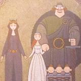Disney Pixar BRAVE Royal Family Tapestry