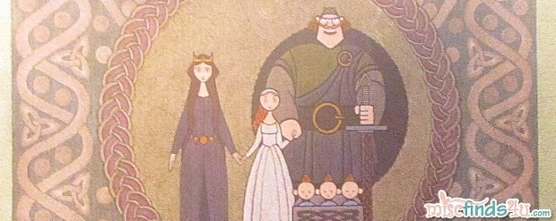 Disney Pixar BRAVE Royal Family Tapestry