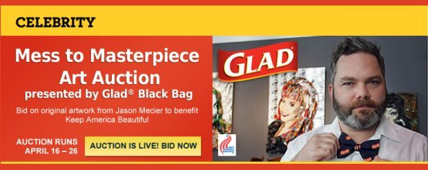 Community: Glad Black Bag Art Auction and Mosaic Artist Jason Mecier – Bid to Win!