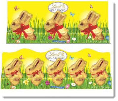 Lind Gold Bunny Trio and minis