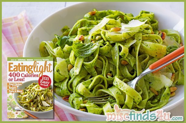 Lightened Spinach Pesto Pasta