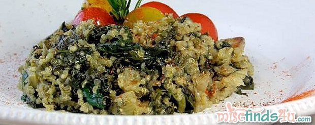 Maria's Homemade Spinach Quinoa Mediteraneo