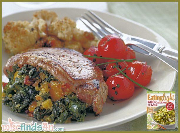 Lightened Stuffed Pork Chops