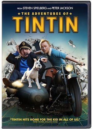 The Adventures of TinTin Film - produced by Stephen Spielberg - 2012 - DVD Review