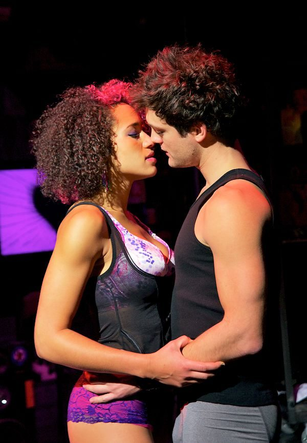 Gabrielle McClinton (Whatshername) and Van Hughes (Johnny) in AMERICAN IDIOT (Photo by Doug Hamilton)