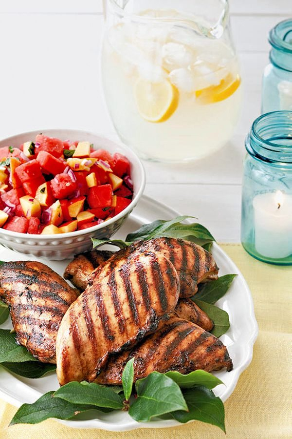 Coffee Spiced Grilled Chicken with Fruit-Basic Salsa Recipe